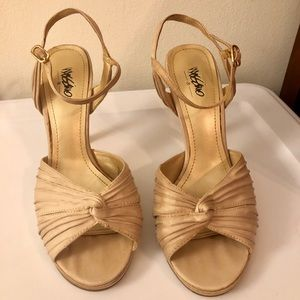 Mossimo champagne gold heels
